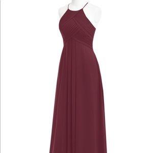 Azazie Size 8 cabernet bridesmaid dress